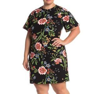 Rachel Roy   Janie Short Sleeve Floral Dress   OX
